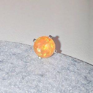 Firey red opal stud earring